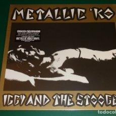 Discos de vinilo: IGGY AND THE STOOGES METALLIC 'KO LP DORADO EDICION LIMITADA 40 ANIVERSARIO. Lote 180485610