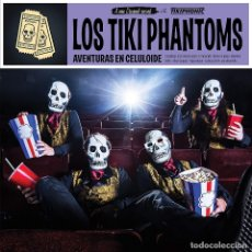 Discos de vinilo: LOS TIKI PHANTOMS * LP VINILO * AVENTURAS EN CELULOIDE * PRECINTADO DE FÁBRICA. Lote 180486267