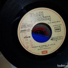 Discos de vinilo: IRON MAIDEN RARO SINGLE ESPAÑOL CON SELLO MUESTRA INVENDIBLE SIN PORTADA COLECCIONISTAS. Lote 180486516