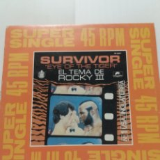 Discos de vinilo: SURVIVOR , EYE OF THE TIGER TEMA ROCKY III. Lote 180487907