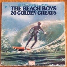 Discos de vinilo: THE BEACH BOYS 20 GOLDEN HITS DOBLE LP. Lote 180495816