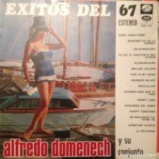 Discos de vinilo: ALFREDO DOMENECH EXITOS DEL 67: INCLUYE PENNY LANE (BEATLES),DONOVAN,ADAMO,PALITO ORTEGA. Lote 180499118