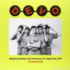 Discos de vinilo: DEVO * MABUHAY GARDENS, SAN FRANCISCO 03/08/1977 FM BROADCAST * 500 COPIAS!!! PRECINTADO. Lote 180499146