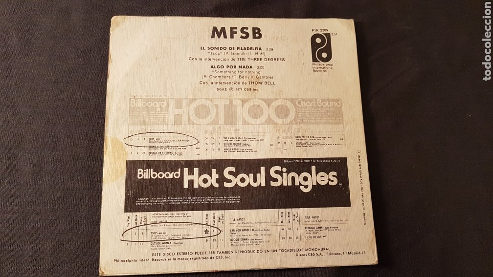 Discos de vinilo: Mpsb. The philadelphia sound - Foto 2 - 180503255