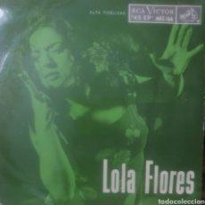 Discos de vinilo: LOLA FLORES EP SELLO RCA VÍCTOR EDITADO EN MÉXICO. Lote 180504012