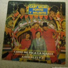 Disques de vinyle: GABY, MILIKI, FOFITO Y MILIKITO - COMO ME PICA LA NARIZ. Lote 180504070