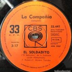 Discos de vinilo: SENCILLO ARGENTINO DE LA COMPAÑÍA AÑO 1971. Lote 57655217