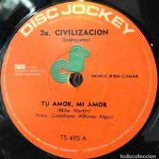 Discos de vinilo: SENCILLO ARGENTINO DE 2A. CIVILIZACIÓN AÑO 1969. Lote 57655267