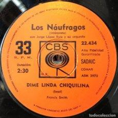 Discos de vinilo: SENCILLO ARGENTINO DE LOS NÁUFRAGOS AÑO 1972. Lote 57265983