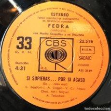 Discos de vinilo: SENCILLO ARGENTINO DE FEDRA AÑO 1972. Lote 57655233