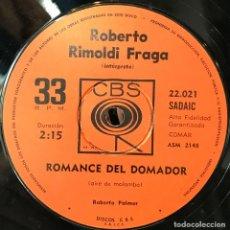 Discos de vinilo: SENCILLO ARGENTINO DE ROBERTO RIMOLDI FRAGA AÑO 1968. Lote 57655201