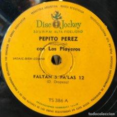 Discos de vinilo: SENCILLO ARGENTINO DE PEPITO PÉREZ Y LOS PLAYEROS AÑO 1965. Lote 57655259