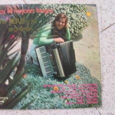 Discos de vinilo: LP LOS 14 MEJORES TANGOS MARIA JESUS Y SU ACORDEON. Lote 180601318