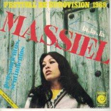 Discos de vinilo: MASSIEL - LA, LA, LA / PENSAMIENTOS, SENTIMIENTOS (SINGLE ESPAÑOL, NOVOLA 1968). Lote 180846207