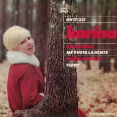 Discos de vinilo: KARINA - GOLDFINGER / ME GUSTA LA GENTE / MUÑECA DE CERA / TERRY (EP ESPAÑOL, HISPAVOX 1965). Lote 180846823