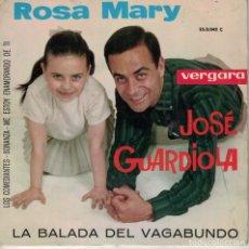 Discos de vinilo: JOSE GUARDIOLA - LA BALADA DEL VAGABUNDO/LOS COMEDIANTES/BONANZA/ME ESTOY ENAMORANDO DE TI. Lote 180849420