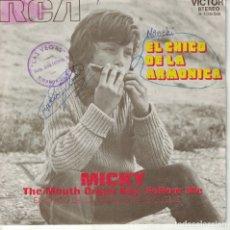 Disques de vinyle: MICKY - EL CHICO DE LA ARMONICA / FOLLOW ME (SINGLE ESPAÑOL, RCA 1971). Lote 180850200