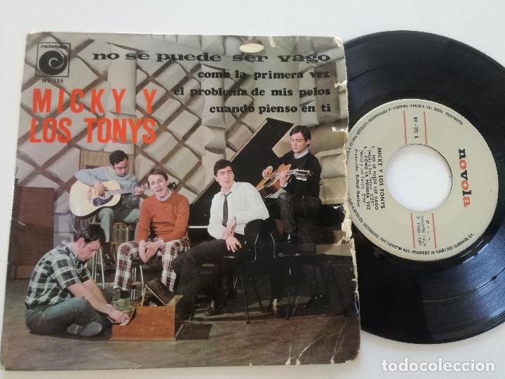 MICKY Y LOS TONYS - NO SE PUEDE SER VAGO + 3 - EP NOVOLA 1967 (Música - Discos de Vinilo - EPs - Grupos Españoles 50 y 60)