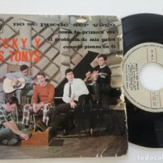 Discos de vinilo: MICKY Y LOS TONYS - NO SE PUEDE SER VAGO + 3 - EP NOVOLA 1967. Lote 180850930