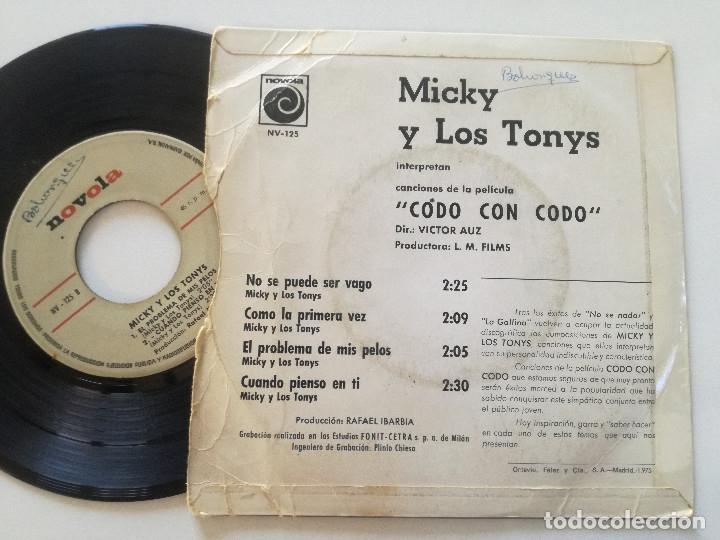 Discos de vinilo: MICKY Y LOS TONYS - No Se Puede Ser Vago + 3 - EP NOVOLA 1967 - Foto 2 - 180850930