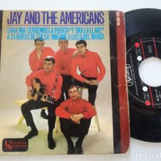 Discos de vinilo: JAY AND THE AMERICANS - CARA MIA + 3 - EP UNITED ARTISTS 1965. Lote 180851993