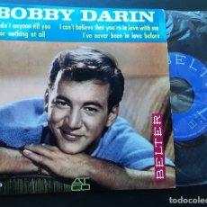Discos de vinilo: BOBBY DARIN, I HADN'T ANYONE TILL YOY + ALL OR NOTHING AT ALL +2. Lote 180860210