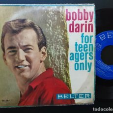 Discos de vinilo: BOBBY DARIN, FOR TEENAGERS ONLY: SOMEBODY TO LOVE, YOU KNOW HOW +2. Lote 180860461