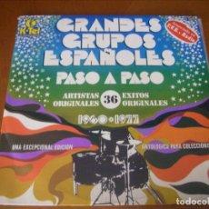 Discos de vinilo: LP DOBLE / GRANDES GRUPOS ESPAÑOLES 1960 - 1977 NO CONTINE POSTER . Lote 180861095