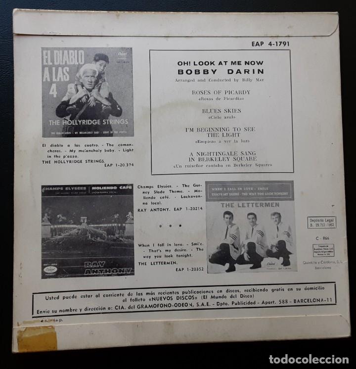 Discos de vinilo: BOBBY DARIN, ROSES OF PICARDY, BLUE SKIES +2 - Foto 2 - 180861101