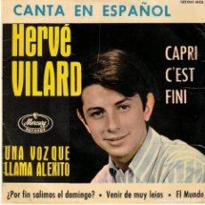Discos de vinilo: HERVE VILARD POR FIN SALIMOS EL DOMINGO . Lote 180862541