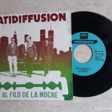 Discos de vinilo: PATIDIFFUSION .AL FILO DE LA NOCHE.1986.CON DEDICATORIA DE UN MUSICO DEL GRUPO EN CONTRAPORTADA. Lote 180864080