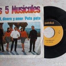 Discos de vinilo: LOS 5 MUSICALES.SALUD,DINERO Y AMOR.1968.. Lote 180865571