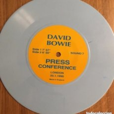 Discos de vinilo: DAVID BOWIE SOUND + VISION PRESS CONFERENCE 23.1.1990 RARO NO OFICIAL. Lote 180870478