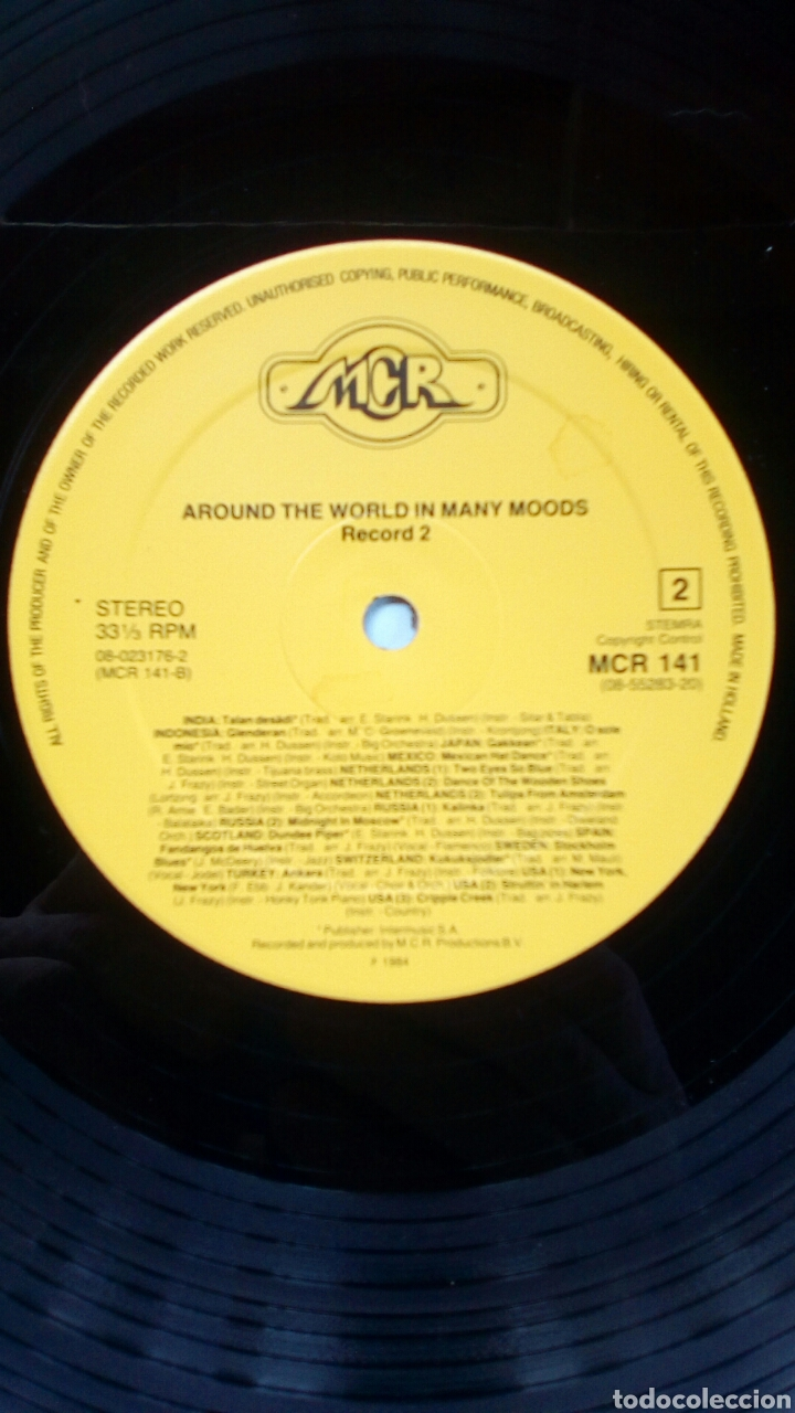 Discos de vinilo: Around The World In Many Moods - Music for movies..., 2 LP, MCR Productions, 1984. Holland. - Foto 8 - 180872222