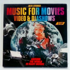 Discos de vinilo: AROUND THE WORLD IN MANY MOODS - MUSIC FOR MOVIES..., 2 LP, MCR PRODUCTIONS, 1984. HOLLAND.. Lote 180872222