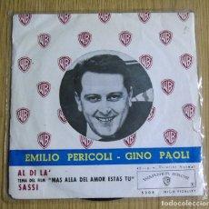 Discos de vinilo: EMILIO PERICOLI ---GINO PAOLI ---AL DI LA´---+3 EDICION 1962--VINILO MINT ( M ) FUNDA VG ++. Lote 180876088