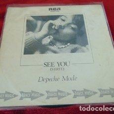 Discos de vinilo: DEPECHE MODE – SEE YOU - SINGLE RCA 1982. Lote 180876746