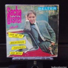 Discos de vinilo: SACHA DISTEL LOIN DE TOI / CATERINA / DESAFINADO / ESE BESO EDICION AÑO 1963 MINT ( M ). Lote 180878403