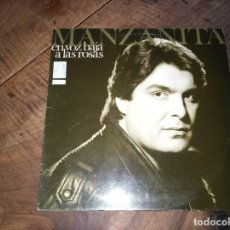 Discos de vinilo: FLAMENCO MANZANITA - EN VOZ BAJA A LAS ROSAS AÑO 1988. Lote 180885895