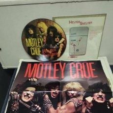 Discos de vinilo: MOTLEY CRUE PICTURE DISC ORIGINAL USA CON POSTER. Lote 180889752