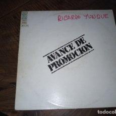 Discos de vinilo: FLAMENCO RICARDO YUNQUE - AVANCE DE PROMOCION AÑO 1980. Lote 180890500