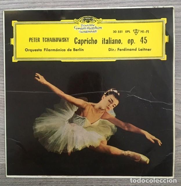 TCHAIKOWSKY - CAPRICHO ITALIANO - FILARMÓNICA DE BERLÍN - - F. LEITNER - 1962 (Música - Discos - Singles Vinilo - Clásica, Ópera, Zarzuela y Marchas)