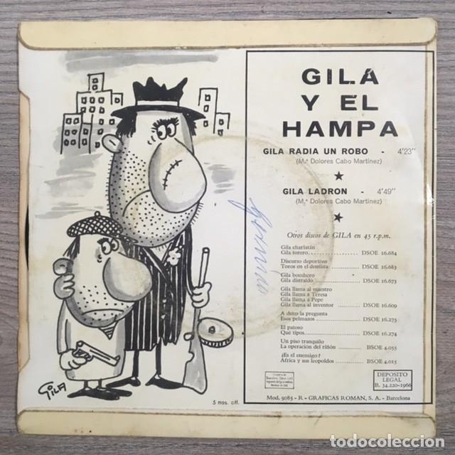 Discos de vinilo: GILA Y EL HAMPA - 1966 - Foto 2 - 180892315