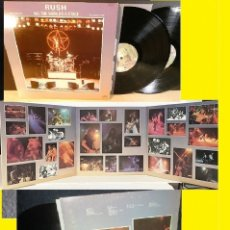 Discos de vinilo: RUSH / ALL THE WORLD'S A STAGE 76 !! 2 LP, SUPER DESPEGABLE CARPETA, HARD ROCK, ORIG EDIT USA !! EX. Lote 130660603
