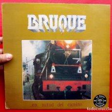 Discos de vinilo: BRUQUE. EN MITAD DEL CAMINO. LP CON ENCARTE. VINILO. AÑO: 1988. JUSTINE. Lote 180894628