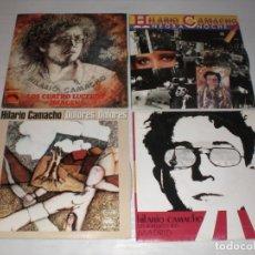 Discos de vinilo: HILARIO CAMACHO. LOTE 4 SINGLES DE SU DISCOGRAFIA AÑOS 70 NUEVOS VER TITULOS EN FOTO. Lote 180900976