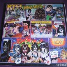 Discos de vinilo: KISS LP CASABLANCA 1980 EDICION ORIGINAL ESPAÑOLA SIN USO - UNMASKED - HARD ROCK GLAM. Lote 180902385