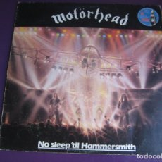 Discos de vinilo: MOTÖRHEAD LP BRONZE 1981 - NO SLEEP 'TIL HAMMERSMITH - EDICION ORIGINAL ESPAÑOLA - POCO USO. Lote 180902451