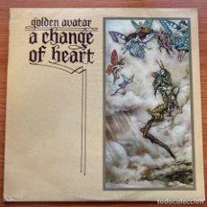 Discos de vinilo: GOLDEN AVATAR // A CHANGE OF HEART // UK 1976. Lote 180902997