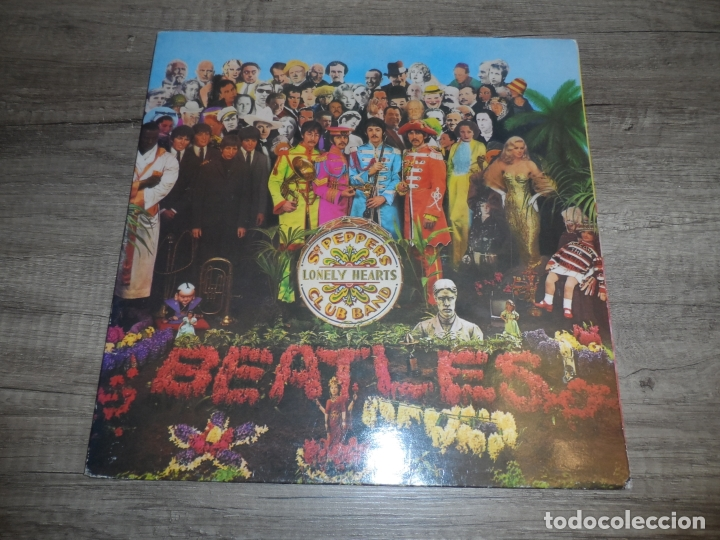 THE BEATLES - SERGEANT PEPPERS LONELY HEARTS CLUB BAND (SPAIN 1967) (LABEL GRIS) (Música - Discos - LP Vinilo - Pop - Rock Extranjero de los 50 y 60)